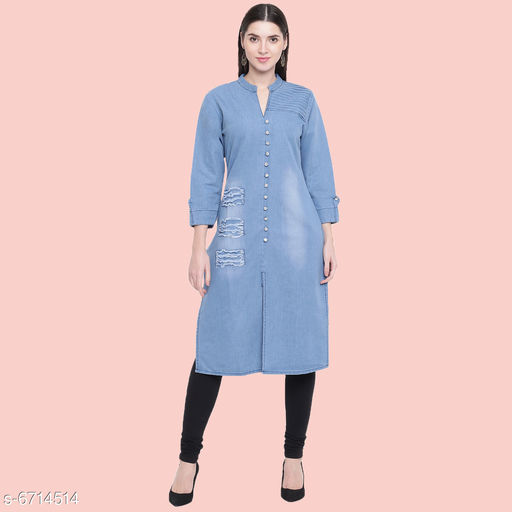 Trendy Denim Women's Kurti