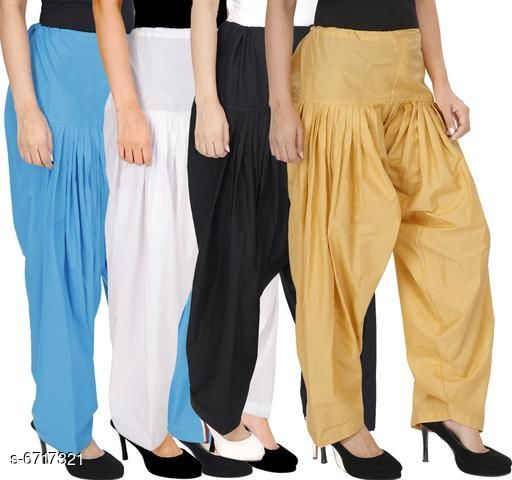 Trendy Cotton Women's Patiala Pant