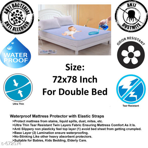Comfy Non Woven Laminated Double Bed Protector Sheet