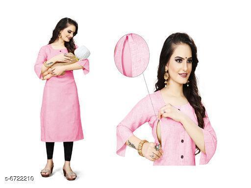 Women's Solid Cotton Blend Kurti