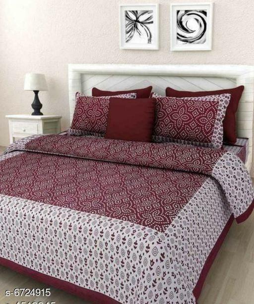 Elite Fashionable  Cotton 100 X 90 Double Bedsheets