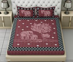 Classy Comfy Cotton  Bedsheet 100 in X 90 in