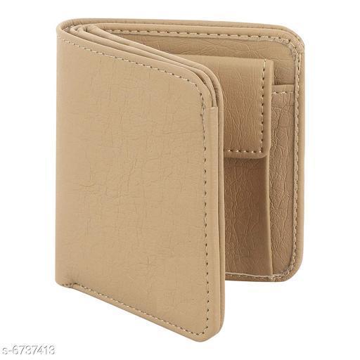 Trendy Men's Peach Leather Wallet