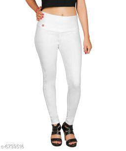 Trendy Solid Denim Jean