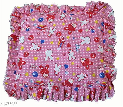 Kidzvilla Baby's Teddy Print Mustard Seeds Pillow for Head Shaping (0 to 12 Month, Pink)…