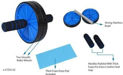 Fitness Equipment Stylish Fitness Equipment  *Product Name* Stylish Fitness Equipment  *Type* Double Wheel Roller  *Material* Plastic  *Multipack* Pack of 1  *Sizes Available* Free Size *   Catalog Rating: ★3.9 (9)  Catalog Name: Stylish Fitness Equipment CatalogID_1077858 C125-SC1392 Code: 752-6759142-