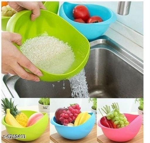 Rice and vegetable washing bowl