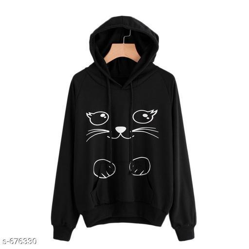 Voguish Fleece Printed Sweatshirt