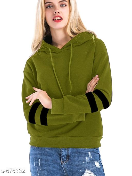 Sweatshirts Voguish Fleece Printed Sweatshirt  *Fabric* Fleece  *Sleeves* Full Sleeves Are Included  *Size* XS- 32 in, S- 34 in, M- 36 in, L- 38 in, XL- 40 in  *Length* Up to 25 in  *Type* Stitched  *Description* It Has 1 Piece Of Women's Sweatshirt  *Work* Printed  *Sizes Available* XS, S, M, L, XL, XXL *   Catalog Rating: ★4.3 (1795)  Catalog Name: Women's Voguish Fleece Printed Sweatshirts Vol 1 CatalogID_76721 C79-SC1028 Code: 474-676332-