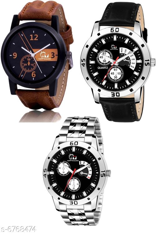 Combo pack of 3 Wrist Watches for Men