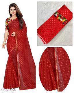 New Attractive Chanderi Cotton Women's Sarees