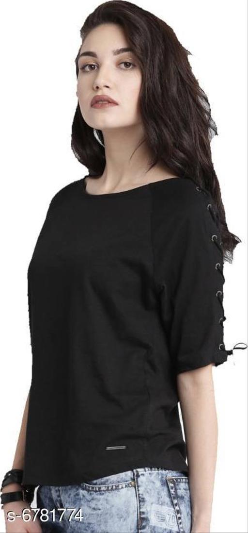 DHRUVI TRENDZ Women's Plain Regular fit Top