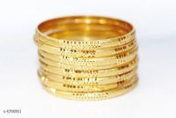 Radha exclusieve 1 GM Gold women brass bangles
