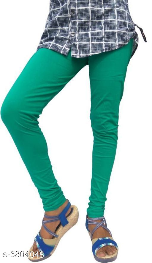 Leggings Elegant Trendy Women Leggings   *Fabric* Cotton  *Pattern* Solid  *Multipack* 1  *Sizes*   *34 (Waist Size* 34 in, Length Size  *36 (Waist Size* 36 in, Length Size  *Sizes Available* 34, 36 *    Catalog Name: Elegant Trendy Women Leggings  CatalogID_1085764 Code: 112-6804048-
