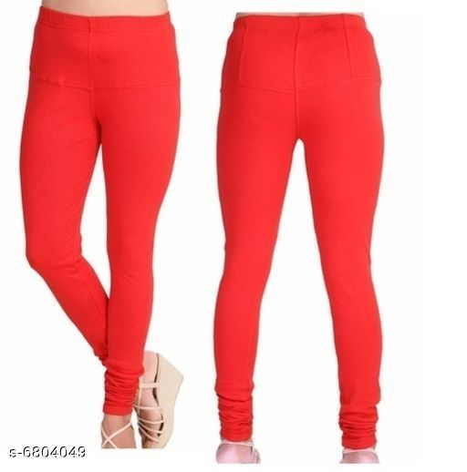 Leggings Elegant Trendy Women Leggings   *Fabric* Cotton  *Pattern* Solid  *Multipack* 1  *Sizes*   *34 (Waist Size* 34 in, Length Size  *36 (Waist Size* 36 in, Length Size  *Sizes Available* 34, 36 *    Catalog Name: Elegant Trendy Women Leggings  CatalogID_1085764 Code: 112-6804049-