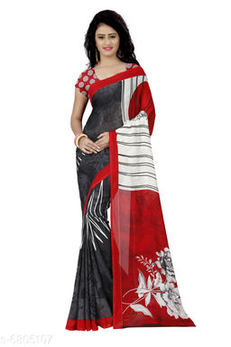 Anand Sree Prnited Daily Wear Georgette Saree(Red)