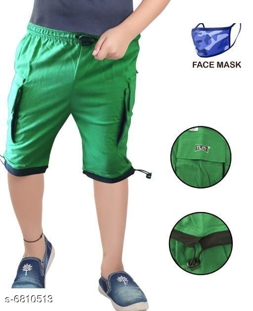 Capris & Three-Fourths Trendy Kids Boys Capris With Mask   *Fabric* Cotton  *Mask Fabric* Cotton  *Pattern* Solid  *Multipack* It Has 1 Piece Of Capri With 1 Piece Of Mask  *Sizes*   *6-7 Years (Waist Size* 8.5 in, Length Size  *7-8 Years (Waist Size* 9.5 in, Length Size  *Sizes Available* 6-7 Years, 7-8 Years *   Catalog Rating: ★3.4 (52)  Catalog Name: Trendy Kids Boys Capris With Mask  CatalogID_1086899 C59-SC1176 Code: 142-6810513-