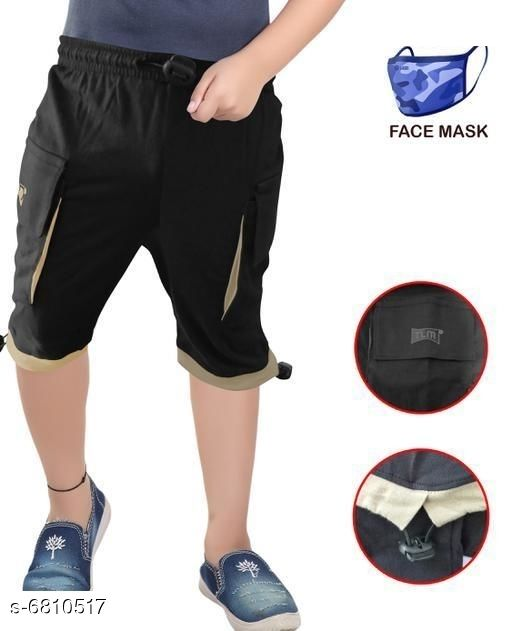 Capris & Three-Fourths Trendy Kids Boys Capris With Mask   *Fabric* Cotton  *Mask Fabric* Cotton  *Pattern* Solid  *Multipack* It Has 1 Piece Of Capri With 1 Piece Of Mask  *Sizes*   *6-7 Years (Waist Size* 8.5 in, Length Size  *7-8 Years (Waist Size* 9.5 in, Length Size  *Sizes Available* 6-7 Years, 7-8 Years *   Catalog Rating: ★3.4 (52)  Catalog Name: Trendy Kids Boys Capris With Mask  CatalogID_1086899 C59-SC1176 Code: 142-6810517-