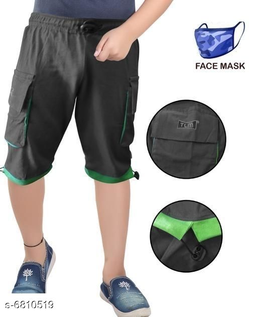 Capris & Three-Fourths Trendy Kids Boys Capris With Mask   *Fabric* Cotton  *Mask Fabric* Cotton  *Pattern* Solid  *Multipack* It Has 1 Piece Of Capri With 1 Piece Of Mask  *Sizes*   *6-7 Years (Waist Size* 8.5 in, Length Size  *7-8 Years (Waist Size* 9.5 in, Length Size  *Sizes Available* 6-7 Years, 7-8 Years *   Catalog Rating: ★3.4 (52)  Catalog Name: Trendy Kids Boys Capris With Mask  CatalogID_1086899 C59-SC1176 Code: 142-6810519-