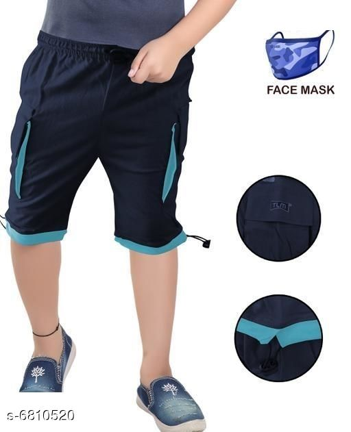Capris & Three-Fourths Trendy Kids Boys Capris With Mask   *Fabric* Cotton  *Mask Fabric* Cotton  *Pattern* Solid  *Multipack* It Has 1 Piece Of Capri With 1 Piece Of Mask  *Sizes*   *6-7 Years (Waist Size* 8.5 in, Length Size  *7-8 Years (Waist Size* 9.5 in, Length Size  *Sizes Available* 6-7 Years, 7-8 Years *   Catalog Rating: ★3.4 (52)  Catalog Name: Trendy Kids Boys Capris With Mask  CatalogID_1086899 C59-SC1176 Code: 142-6810520-