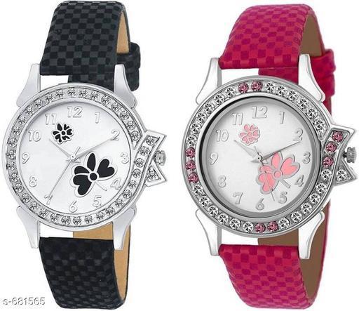 Stylish Women's Watch (Set Of 2)