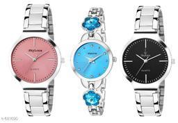 Stylish Women's Watches(Set Of 3)