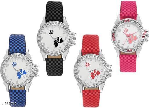 Stylish Women's Watches (Set Of 4)