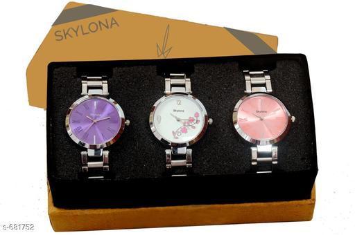 Stylish Women's Watches (Set Of 3)
