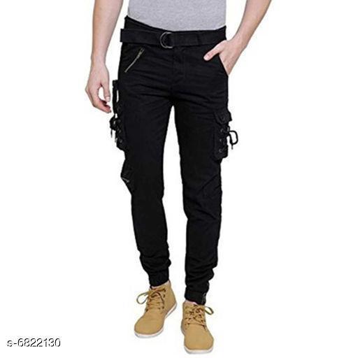 Elegant Cotton Men Trouser