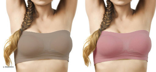 Pack of 2 Non Padded Bandeau Bra
