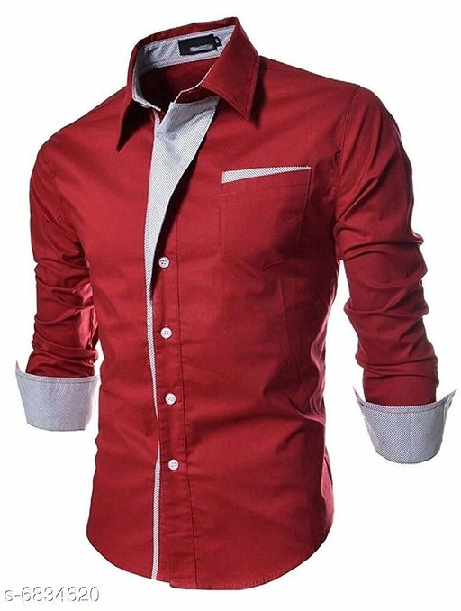 Shirts New Attractive Men's Shirt Fabric: Cotton Sleeve Length: Long Sleeves Pattern: Solid Multipack: 1 Sizes: XL (Chest Size: 46 in Length Size: 31.5 in)  L (Chest Size: 44 in Length Size: 30.5 in)  M (Chest Size: 42 in Length Size: 29.5 in)  Country of Origin: India Sizes Available: S, M, L, XL   Catalog Rating: ★4 (493)  Catalog Name: New Attractive Men's Shirt CatalogID_1090857 C70-SC1206 Code: 734-6834620-