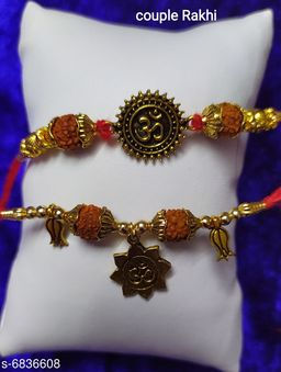 Partywear Thread Braclet Rakhi Set