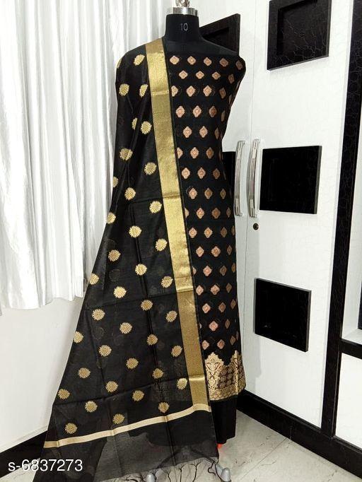 Banarasi poly cotton silk fancy suitTop