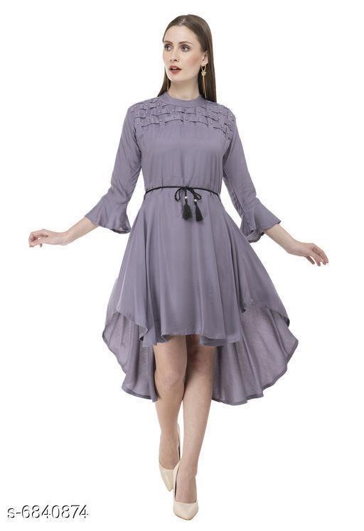 Stylish Women's High Low Dress