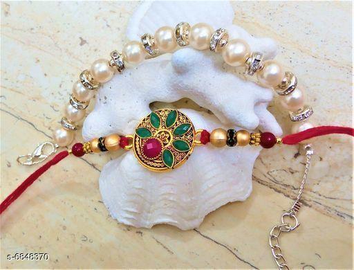 Trendy Fancy Rakhi Bracelet Set Rakhi For Bhaiya and bhabhi