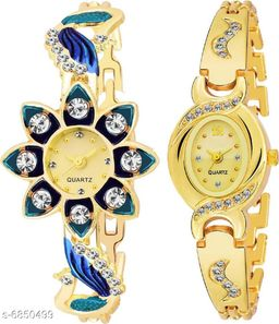 Attractive Stylish Womens Watches (Pack Of 2)