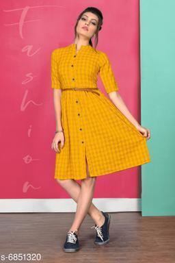 Trendy Cotton Women's Dresses