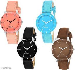 Stylish Attractive Women's Watches (Pack Of 4)