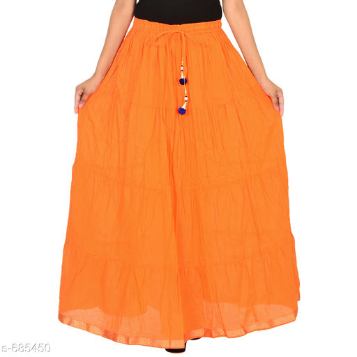 Skirts Gorgeous Cotton Skirts  *Fabric * Cotton  *Waist Size * Up to 28 in to 42 in (Free Size), Flair Length - 3.5 mtr  *Length * Up to 40 in  *Type * Stitched  *Description * It Has 1 Piece of Skirt  *Work * Lace work  *Sizes Available* Free Size *   Catalog Rating: ★4 (220)  Catalog Name: Cotton Flared Skirts Vol 5 CatalogID_77768 C79-SC1040 Code: 753-685450-