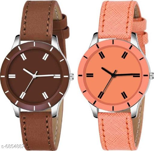 Stylish Attractive Women's Watches (Pack Of 2)