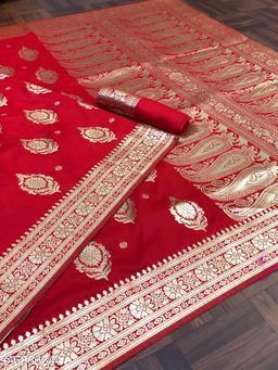 fashion and fashion pure Banarasi zari saree