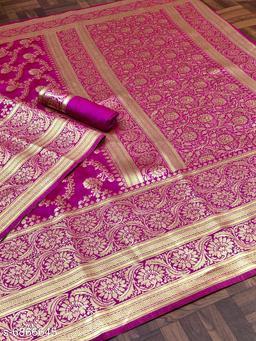 FF creation Banarasi zari saree