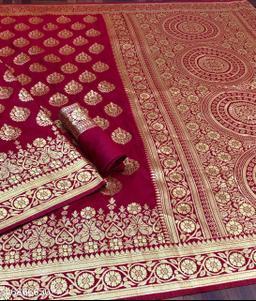 F & F reach Banarasi zari saree