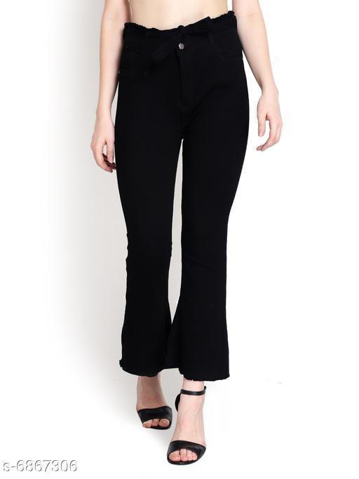 Women High Waist Regular Jeans