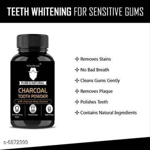 UrbanMooch Tooth Whitening Charcoal Powder with ALOE VERA,Clove & Rock Salt (20 g) Teeth Whitening Kit ()