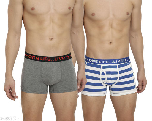 Trunks Trendy Men Trunks ( Pack Of 2)  *Fabric* Cotton Lycra  *Pattern* Trunk 1 - Solid,Trunks 2 - Striped  *Multipack* 2  *Sizes*   *28 (Waist Size* 28 in, Length Size  *30 (Waist Size* 28 in, Length Size  *32 (Waist Size* 28 in, Length Size  *34 (Waist Size* 28 in, Length Size  *Sizes Available* 28, 30, 32, 34, 36 *   Catalog Rating: ★3.9 (21)  Catalog Name: Trendy Men Trunks ( Pack Of 2) CatalogID_1098652 C68-SC1216 Code: 152-6881780-