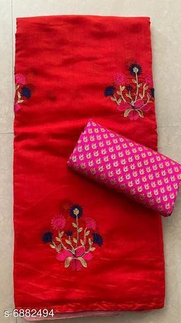 Trendy Chanderi flower saree