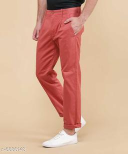 FASHLOOK CARROT RED PANT FOR MEN