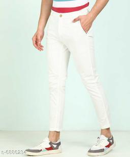FASHLOOK WHITE PANT FOR MEN