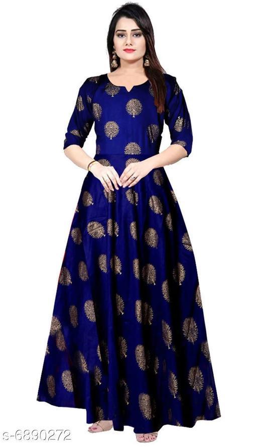 Women's Printed Navy Blue Rayon Dress